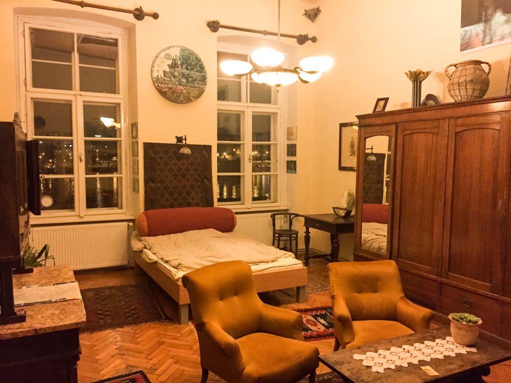 Our apartment from Airbnb in Budapest.