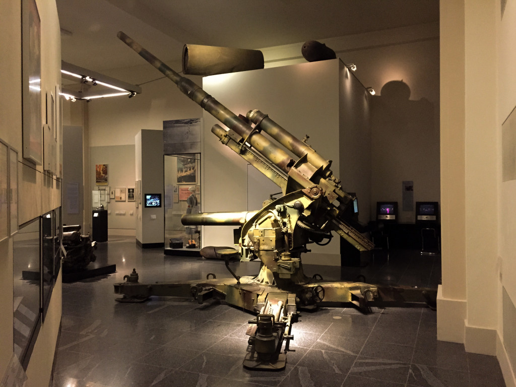 A surviving German 105mm anti-aircraft gun that can be viewed in the German History Museum in Berlin (Deutsches Historisches Museum).