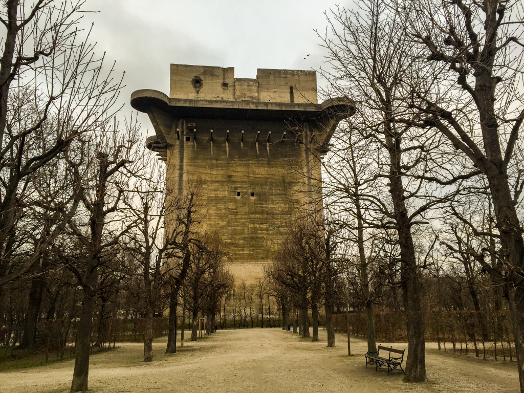 Another view of Flakturm VII L-tower - Augarten, VIenna.