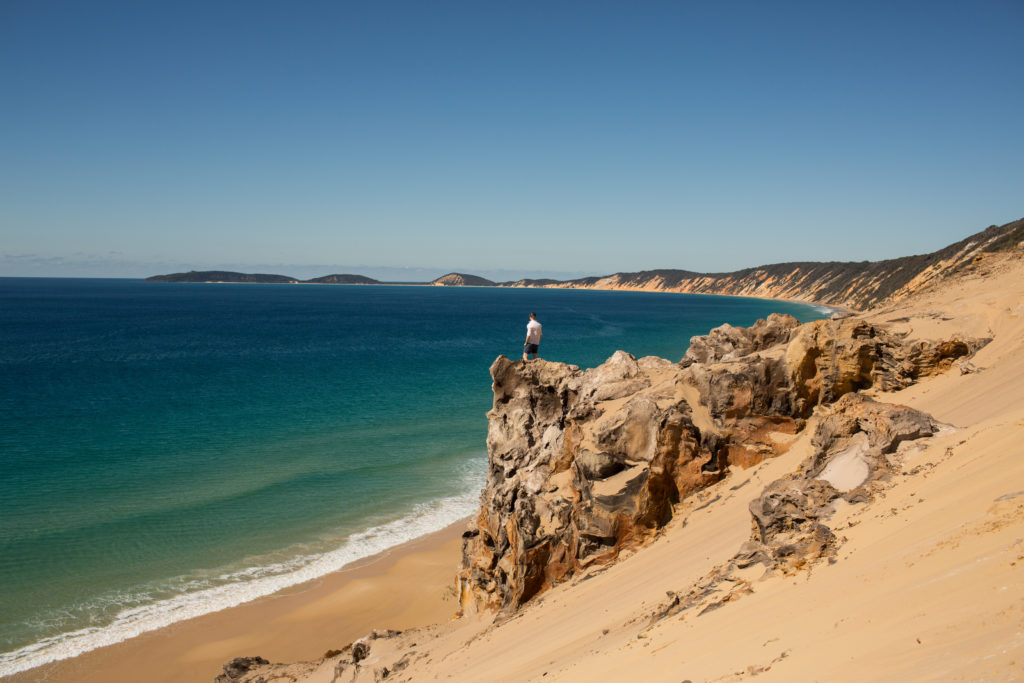 rainbow beach cliffs